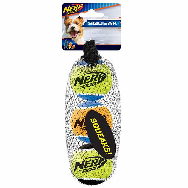 Nerf Dog Squeak Tennis Ball 3pk