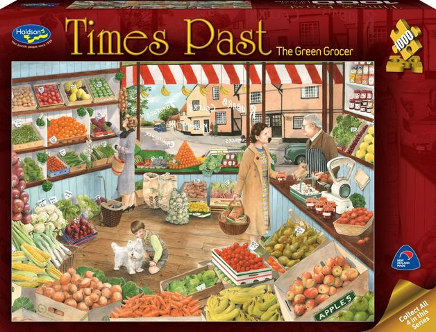 Holdson: 1000 Piece Puzzle Times Past 2 The Green Grocer