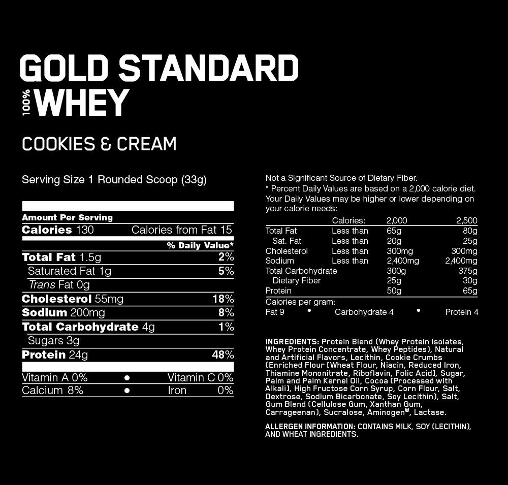 Optimum Nutrition Gold Standard 100% Whey - Cookies & Cream (4.55kg) image