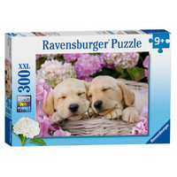 Ravensburger : Sweet Dogs in a Basket Puzzle 300pc