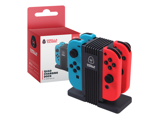 Gorilla Gaming Switch Quad Charging Dock for Switch