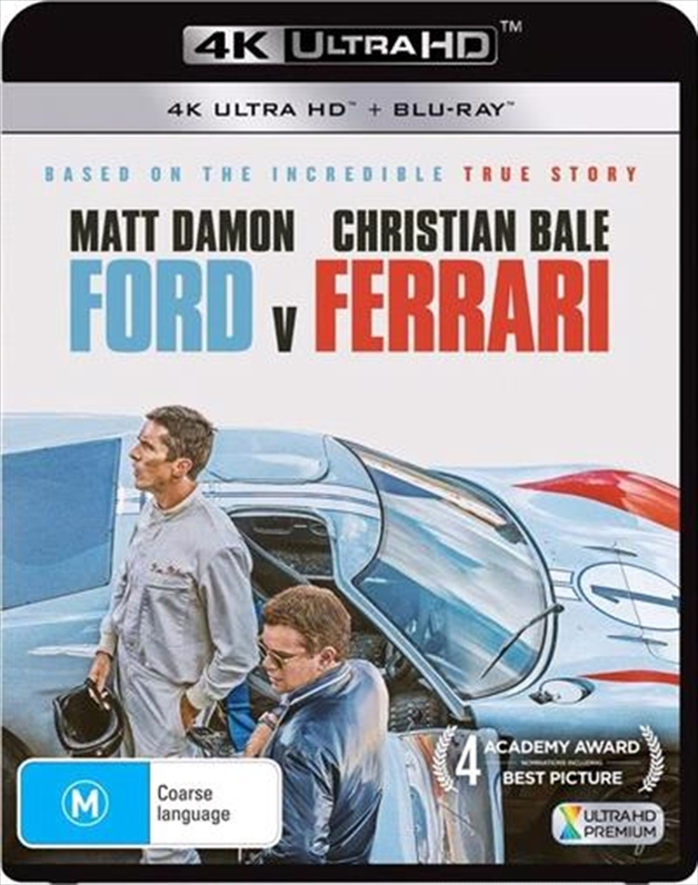 Ford v Ferrari on UHD Blu-ray