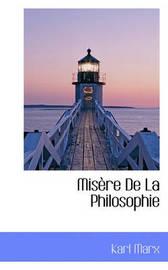 Misre de La Philosophie by Karl Marx