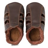 Bobux Soft Soles: Chocolate Contrast Sandal- (Size S)