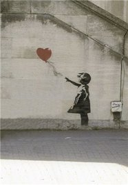 Blue Island Press Cards: Banksy - Heart Balloon