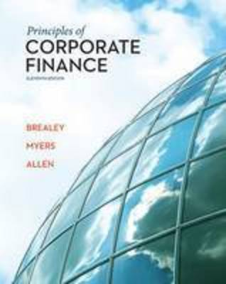 Principles of Corporate Finance by Richard A Brealey image