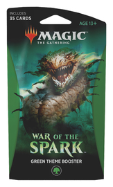 Magic The Gathering: War of the Spark Theme Booster- Green image