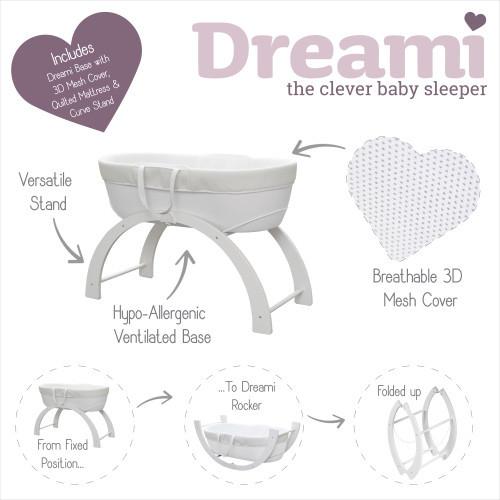 Shnuggle Dreami Baby Sleeper - White image