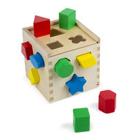 Melissa & Doug: Classic Wood Shape Sorting Cube