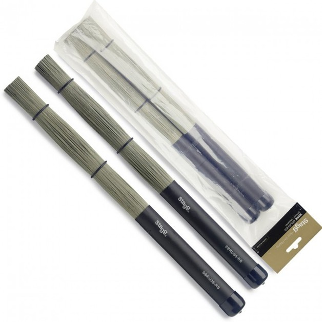 Stagg Nylon Brushes with rubber handle - extra dynamic | at