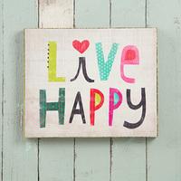 Natural Life: Wall Art - Happy