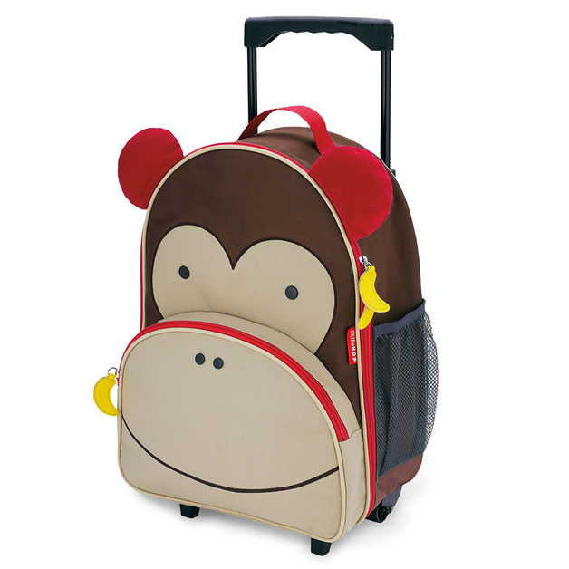 Skip Hop: Zoo Kids Rolling Luggage - Monkey