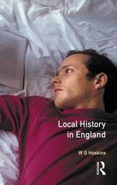 Local History in England by W.G. Hoskins image