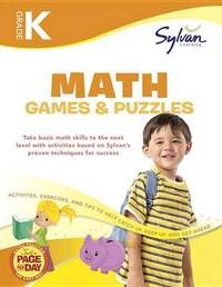 Kindergarten Math Games & Puzzles (Sylvan Workbooks) by Sylvan Learning image