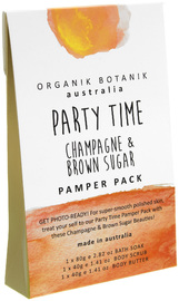 Organik Botanik Splotch - Party Time Pamper Pack (Champagne & Brown Sugar)