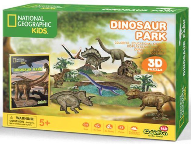 National Geographic Kids: Dinosaurs Park - 43 Piece 3D Puzzle