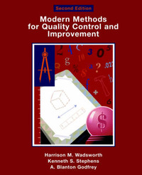 Modern Methods For Quality Control and Improvement by Harrison M. Wadsworth image