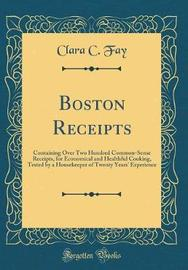 Boston Receipts by Clara C Fay