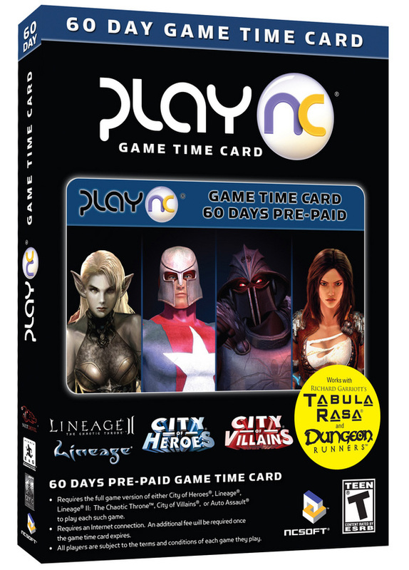 NCSoft 60 day Time Card for PC Games