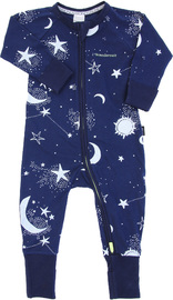 Bonds Zip Wondersuit Long Sleeve - Celestial Night Deep Arctic - 3-6 Months