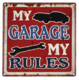 MPH: Metal Wall Plaque - My Garage My Rules