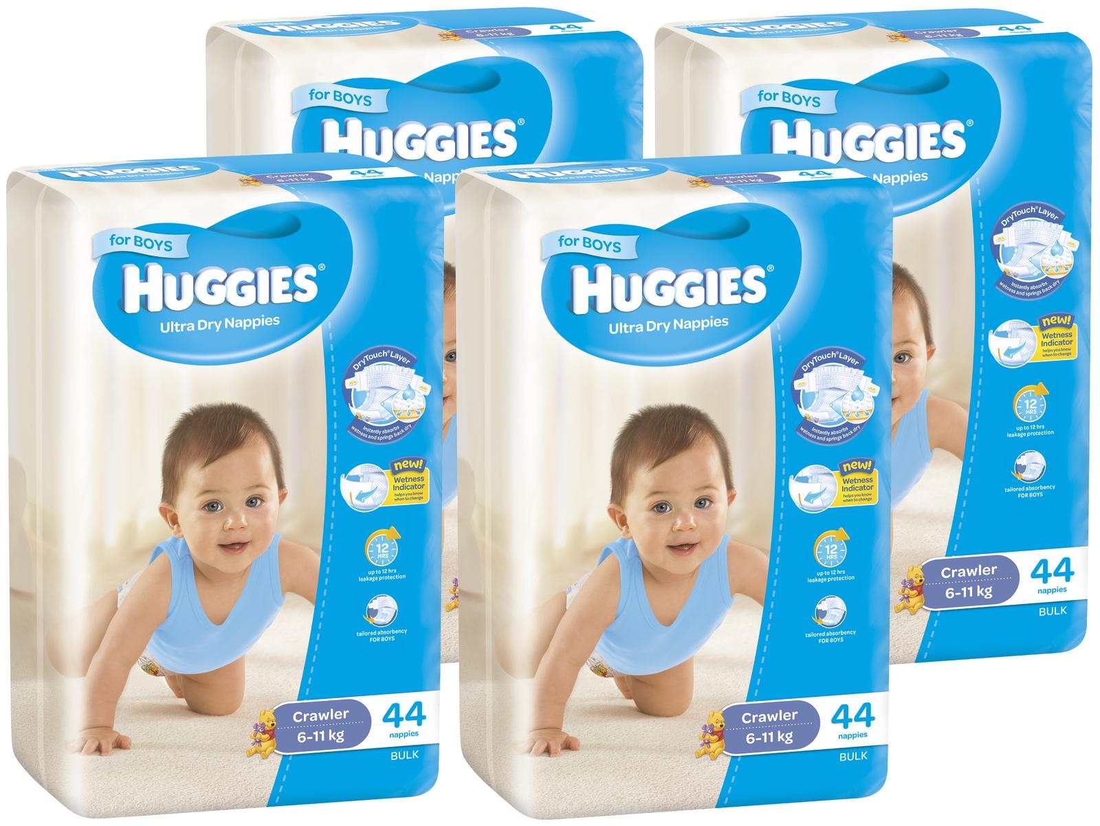 buy huggies nappies bulk shipper crawler boy 6 11kg 176 at mighty ape nz