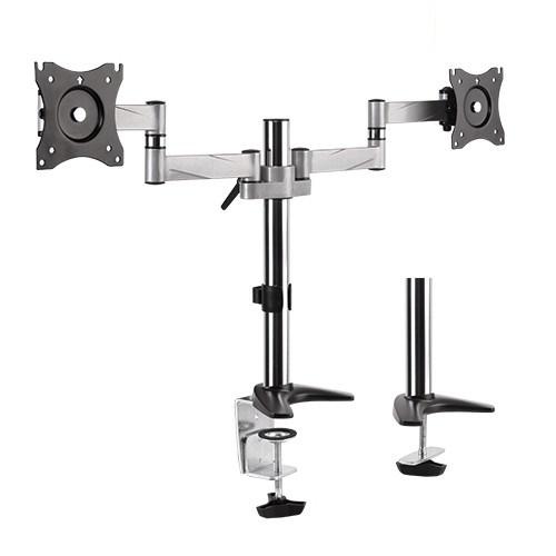 """Brateck: Dual Aluminium LCD VESA Desk Mount (Fits 13"""" - 27"""")"""