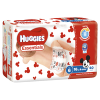 Huggies Essentials Nappies Bulk - Junior 16+kg (40)