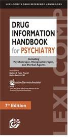 Drug Information Handbook for Psychiatry image