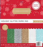 Craft Smith 6 x 6 Paper Pad - Holiday Glitter