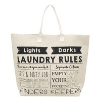 Bambury Laundry Rules Printed Laundry Bag