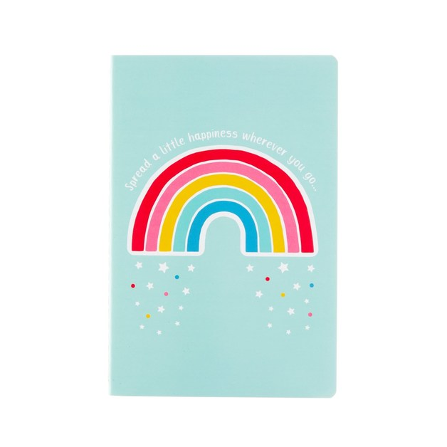 Sass & Belle: Chasing Rainbows Spread Happiness A5 Notebook