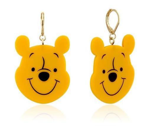 Couture Kingdom: Disney Winnie the Pooh Acetate Drop Earrings - Gold