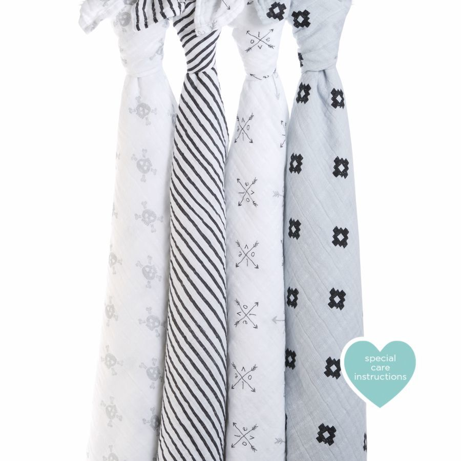 Aden + Anais: Classic Swaddle - Lovestruck (4 Pack Swaddling Wraps) image
