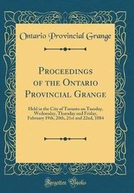 Proceedings of the Ontario Provincial Grange by Ontario Provincial Grange image