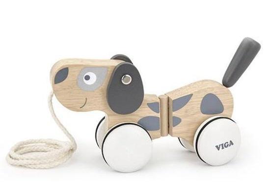 VIGA Wooden Toys: Scandinavian Puppy - Pull-a-long Toy