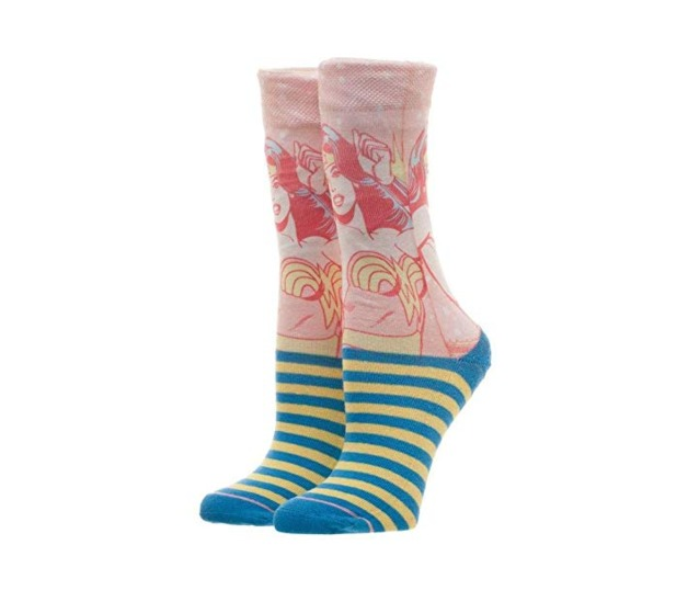 DC Comics: Wonder Woman - Juniors Faded Neon Socks