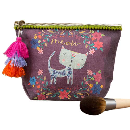 Natural Life: Canvas Pouch - Meow