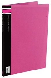 FM A4 40 Pocket Vivid Display Book - Shocking Pink