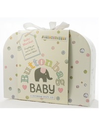 Button Bag - Baby Blanket Knitting Gift Kit
