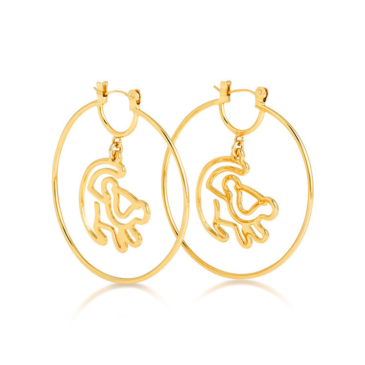Couture Kingdom: Disney Couture The Lion King Simba Earrings - Gold image