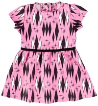 Sourpuss Retro Diamonds Dress Pink (Size 6)