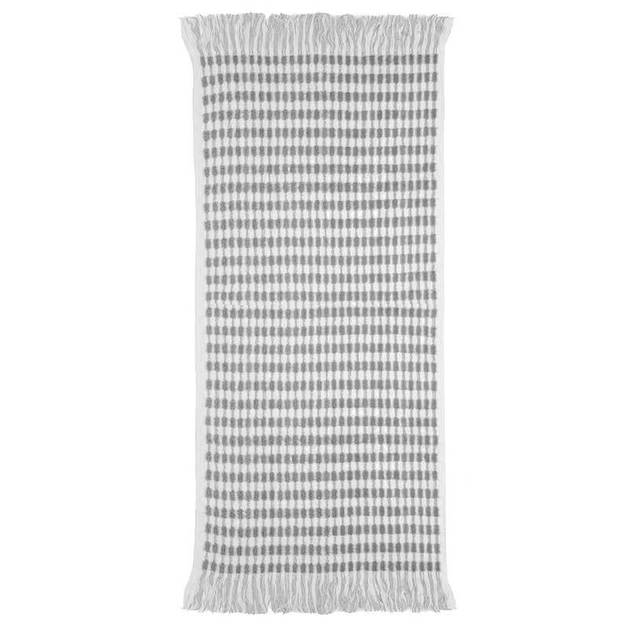 Bambury Corsica Bath/Beach Towel (White/Grey)