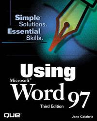 Using Microsoft Word 97 by Joshua C. Nossiter image