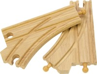 Bigjigs Rail Accessories - Curved Points Pieces