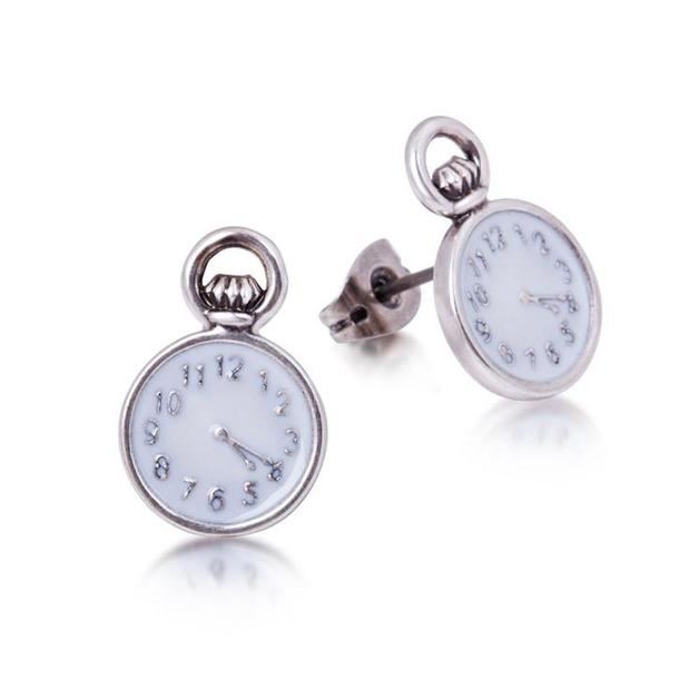 Disney Alice in Wonderland Pocket Watch Earrings