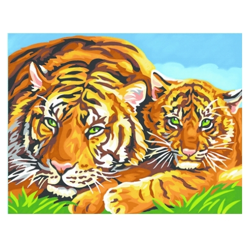 Paint by Numbers - Tigers image