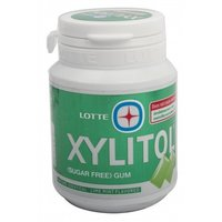 Lotte Xylitol Lime Mint Sugar Free Chewing Gum 58g image