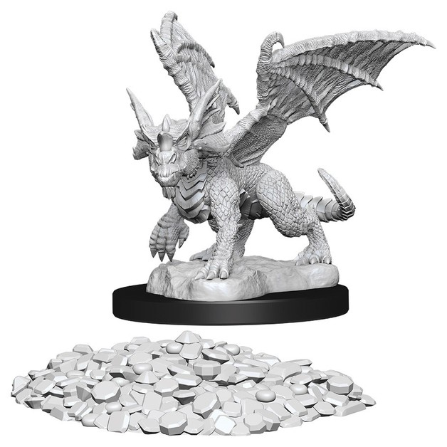 D&D Nolzur's Marvelous: Unpainted Miniatures - Blue Dragon Wyrmling