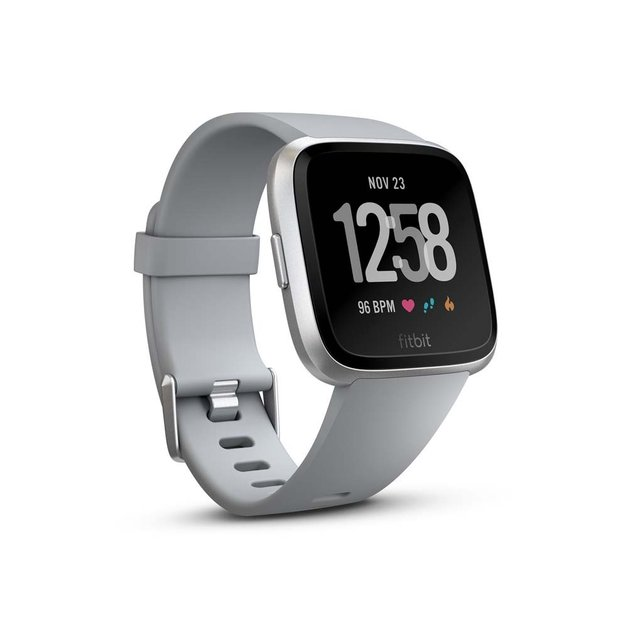 Fitbit Versa Smart Fitness Watch (Gray/Silver)